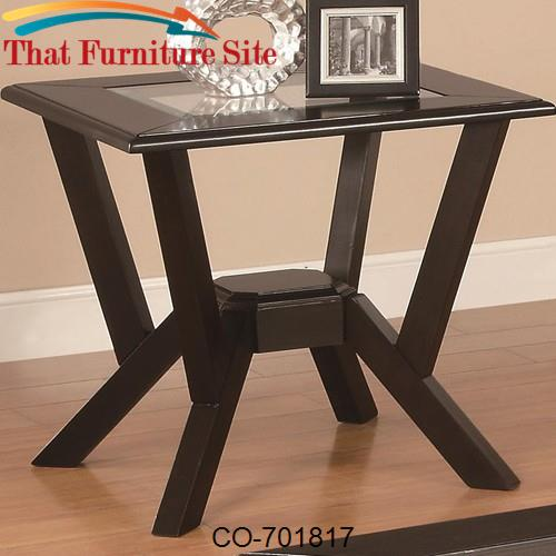occasional group contemporary glass top end table by coaster furniture