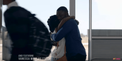 MTV Shuga Episode 1_Bongi and Femi hug in the airport