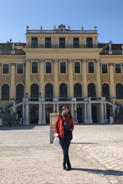 Yours truly in front of Schonbrunn Palace in Vienna!