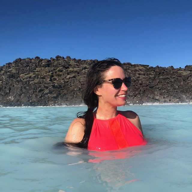 Me in the Blue Lagoon in June!