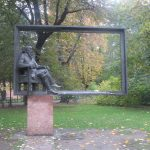 A sculpture in Planty (Krakow, Poland)