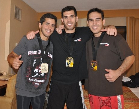 Sal Sanguinetti, Keith Florian & Alex Brown bringing home the metal from Brazilian Jiu Jitsu Pan Am 2009