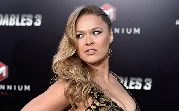 Ronda Rousey looking over her shoulder about to launch a verbal zinger