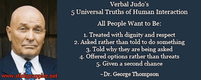 verbal judo 5 universal truths