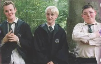 Draco Malfoy with henchmen Vincent Crabbe