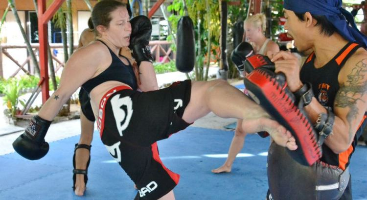 Sarah D'Alelio training at Tiger Muay Thai in Thailand