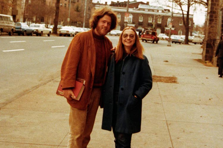 Hillary and Bill Clinton at Yale Law School