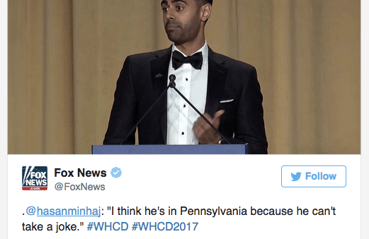 "Fearless and Funny, Hasan Minhaj Rocked the White House Correspondents ""Roast"""