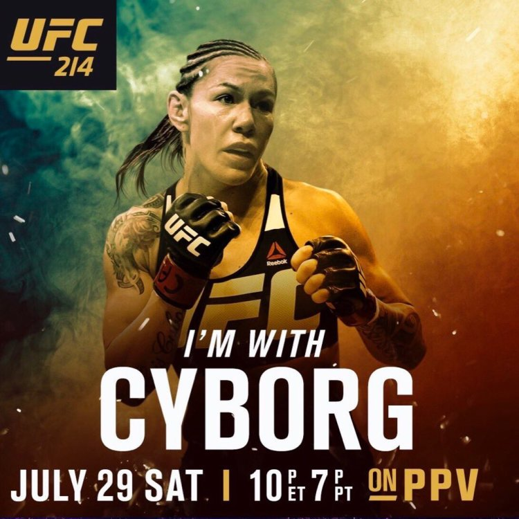 I'm with Cyborg poster UFC 214