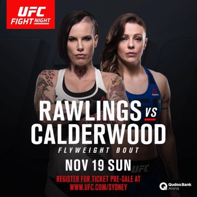 UFC poster Bec Rawlings vs Joanne Calderwood 19 Nov 2017