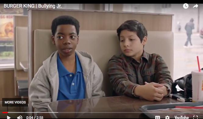 burger king bullying video two kids watching