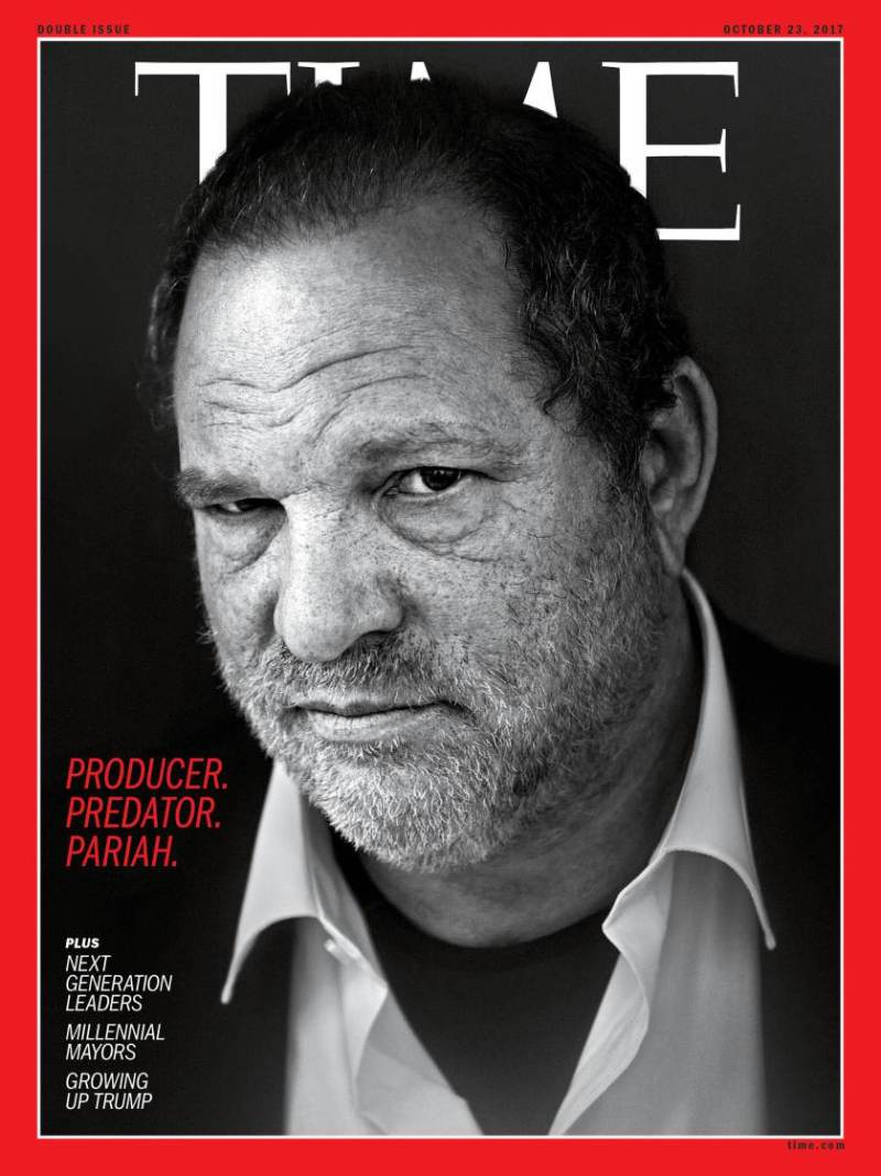 Harvey Weinstein 2012 and 2017 Time Magazine Black and White Photograph by Maurice Haas 13 Photo/Redux