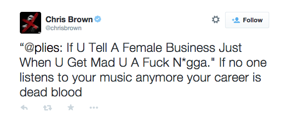 Screen shot 2014 12 07 at 7.41.34 PM Did You Miss It?  Rapper Plies & Chris Brown Trade Shots On Twitter