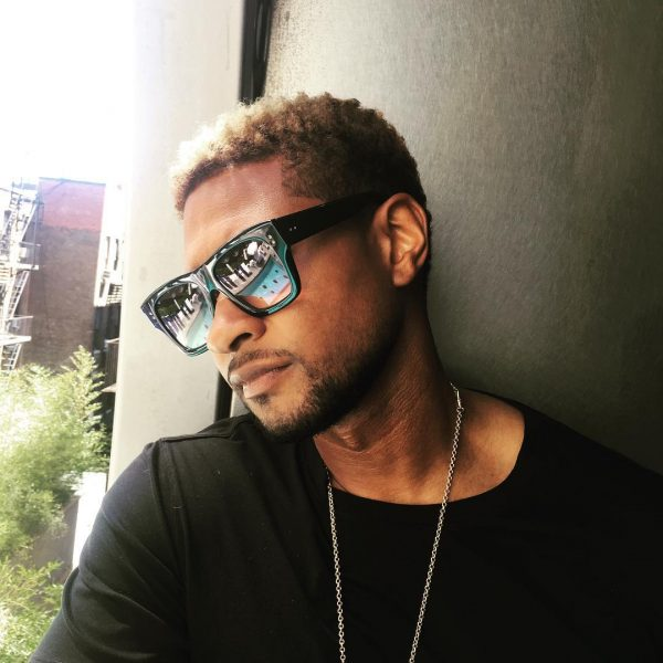 Usher Debuts New Blonde Hair Do That Grape Juice