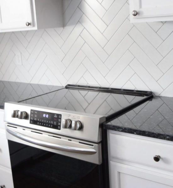 herringbone kitchen backsplash pictures
