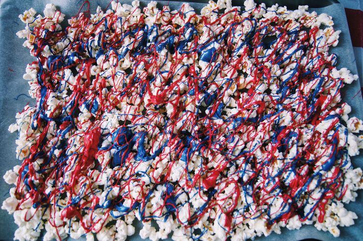 Patriotic Popcorn overhead full