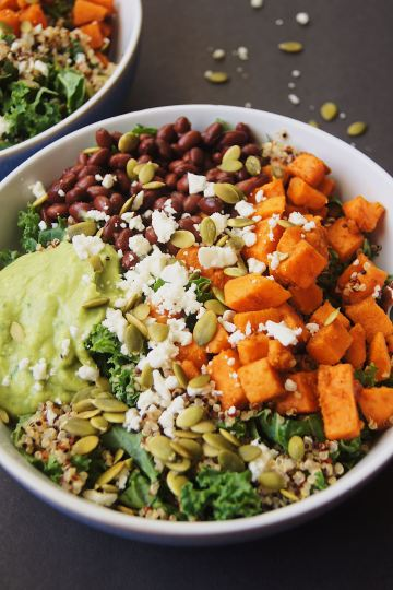 Sweet-potato-and-kale-power-salad-on-black-board-2