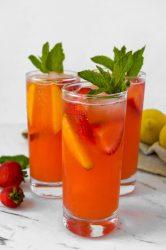 Strawberry Peach Lemonade head on