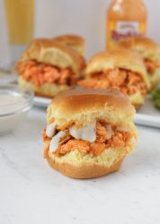 15-Minute Buffalo Chicken Sliders