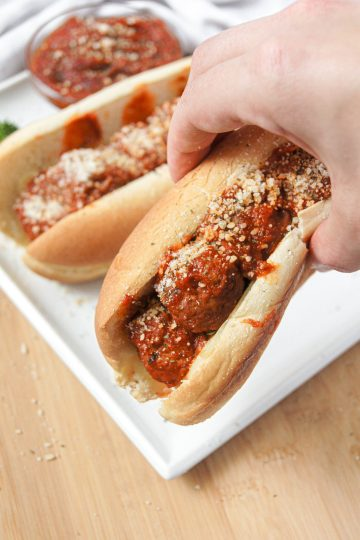 Crockpot Meatball subs