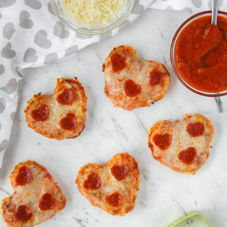 Heart Shape Mini Pizzas