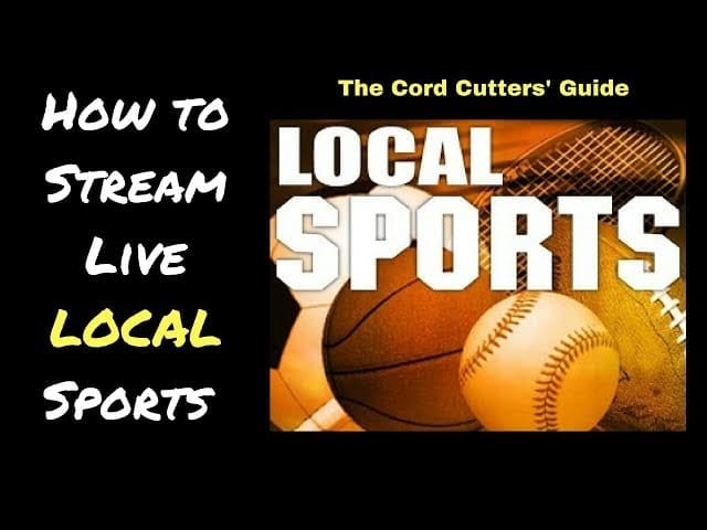 How to Live Stream LOCAL Sports with DTVN, Sling, Fubu, PS Vue, YouTube TV, and more