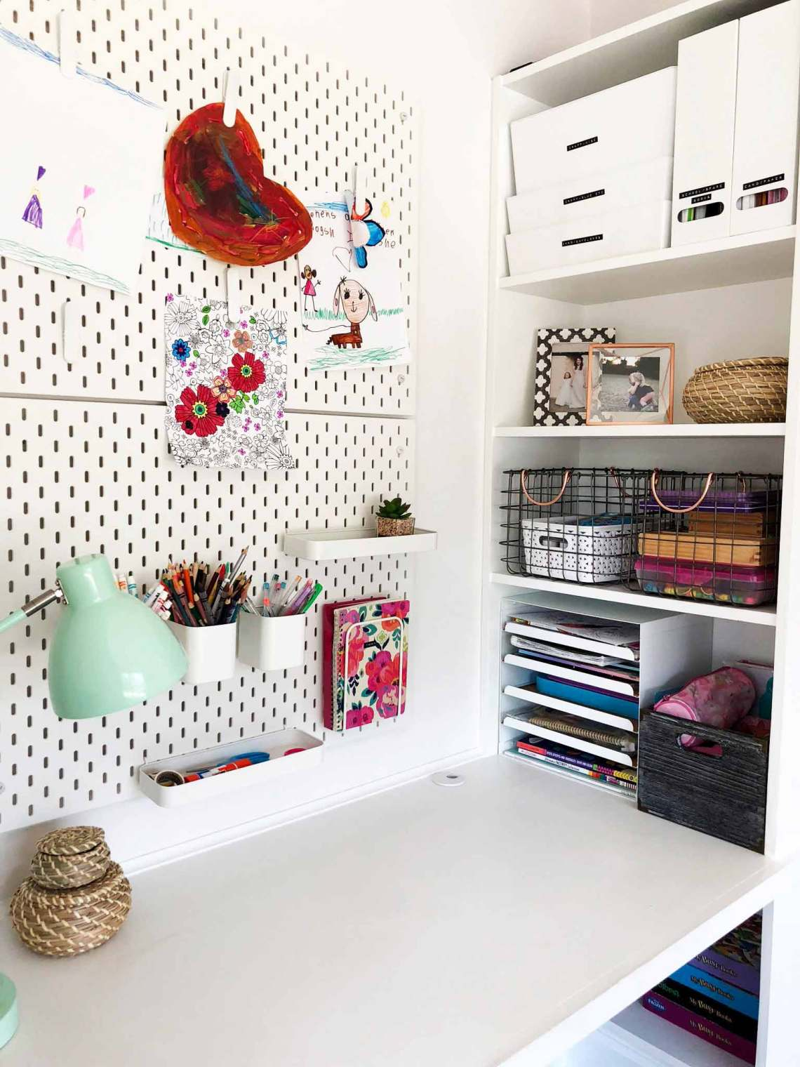 How We Organized Our Kids Messy Desks Using Ikea Products