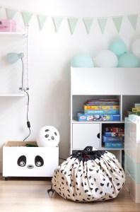 panda opberger, Play & Go, panda speelkleed, opbergzak panda, speelgoed opberger, kinderhoek, speelhoek, inspiratie, interieurinspiratie, thathomepage