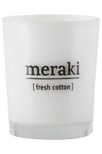 Meraki, fresh cotton, geurkaars, katoen, katoengeur