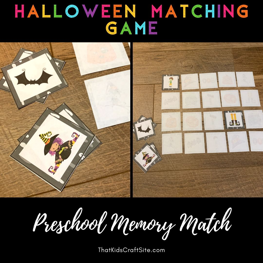 Halloween Matching Game For Preschoolers