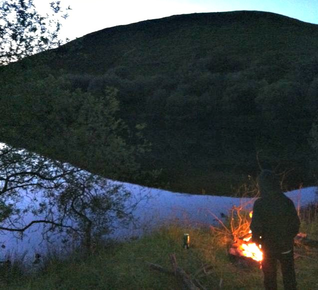 wild camping evening
