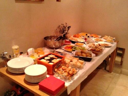 UK weekend break buffet lunch