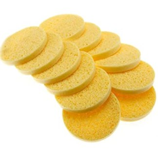 Cellulose Yellow Mask Removing Sponges (12) - Round 10cm