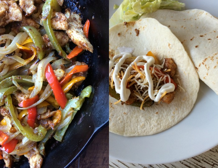 oven fajitas collage