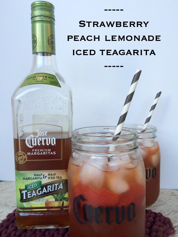strawberry peach lemonade iced teagarita