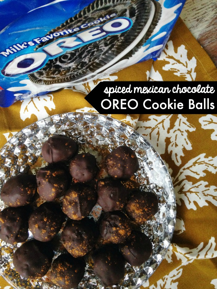 Spiced Mexican Chocolate OREO Cookie Balls