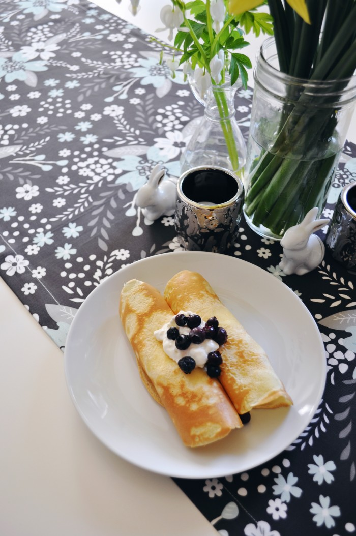 blueberry blintzes for brunch