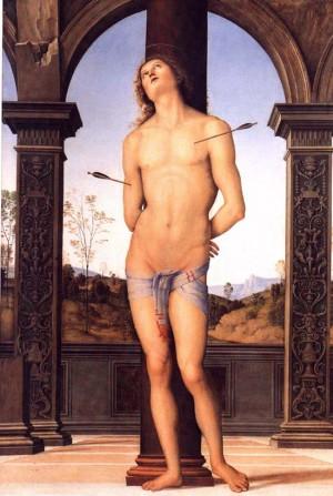 Pietro Perugino, St Sebastian, 1495, Louvre