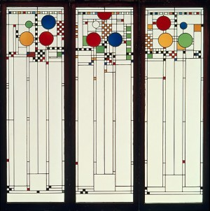 Frank Lloyd WRIGHT (1867-1959) Window from the Coonley House, 1912
