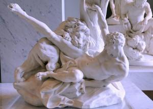 Falconet's Milo of Croton, 1754. Louvre Paris