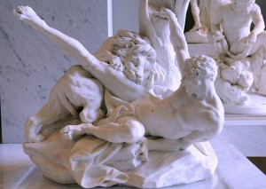 Falconet's Milo of Croton, 1754. Louvre Paris
