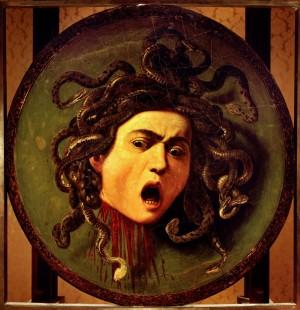 Caravaggio's Medusa (1598, Uffizi, Firenze)