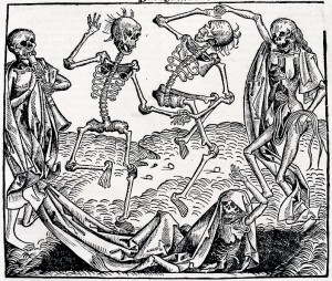 Dance of Death (woodcut) Hans Holbein the Younger, 1491 (German printed edition, folio CCLXI recto from Hartman)