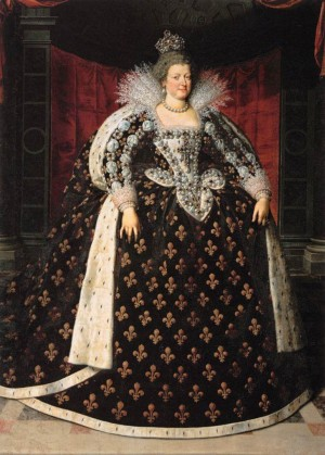 MARIE DE MEDICI, Queen of France Frans Pourbus the Younger (Antwerp 1569 – Paris 1622) 16th Century, Netherlands