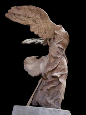 Left side, Nike of Samothrace, from 220 – 190 BC Louvre