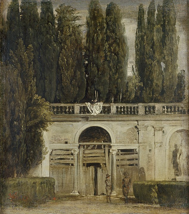 Diego Velazquez, 1634 Medici Gardens in Rome, at the Prado