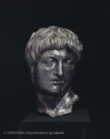 bust of Nero (equestrian statue fragment) at the Louvre,