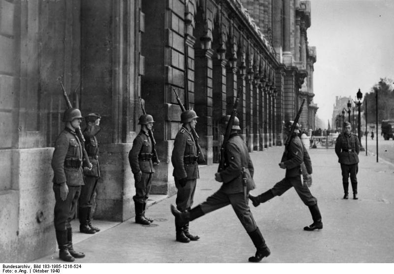 Soldiers outside the Hotel Crillon, Place de la Concorde, Paris, 1940s