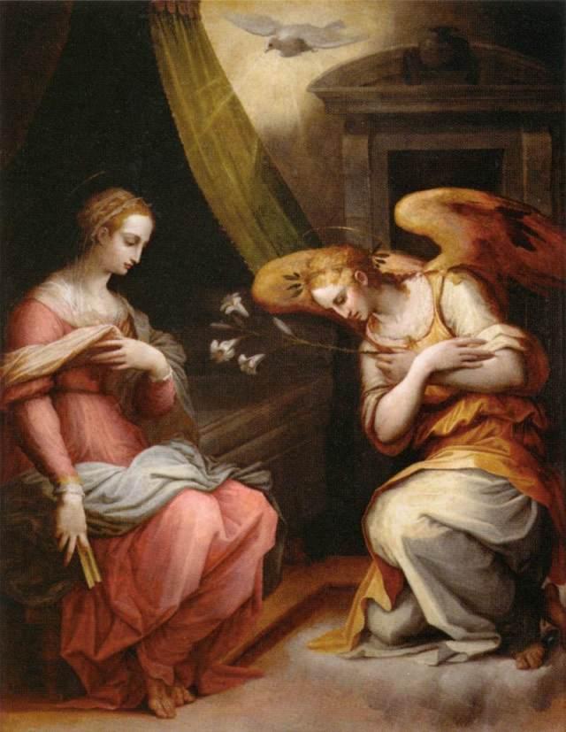 Annunciation – Giorgio Vasari (1511-1574) St Maria Novella d'Arezzo