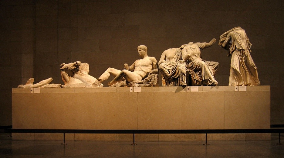 Greek mythology in art on the Parthenon east pediment